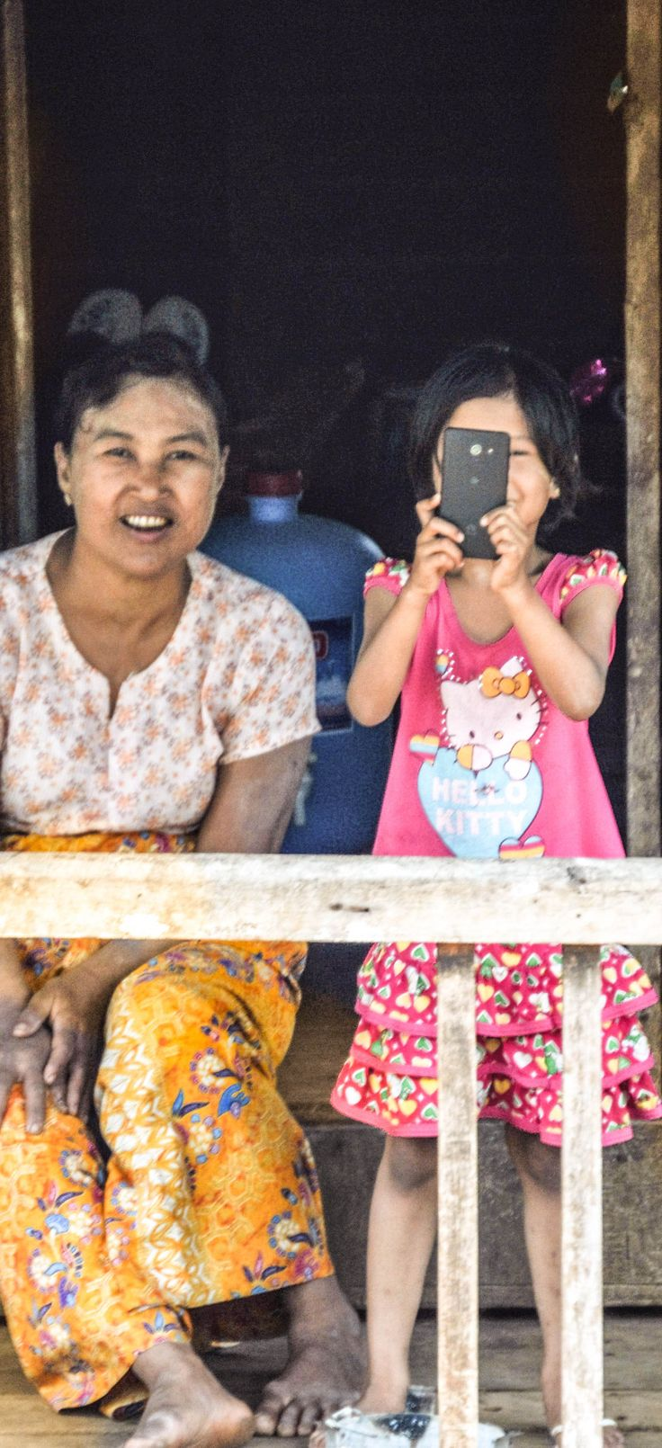 Taking their picture from the train and they were taking mine at the same time. #hsipaw #myanmar #burma