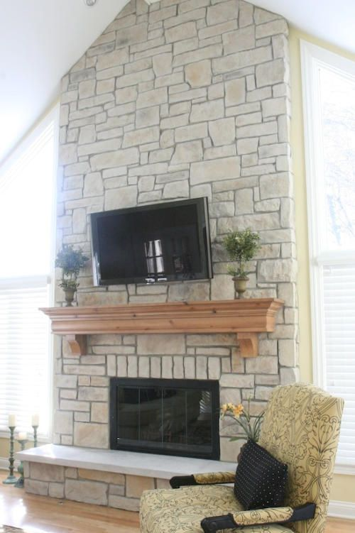 Stone For Fireplaces 17 best stone fireplaces and tvs images on pinterest | fireplace