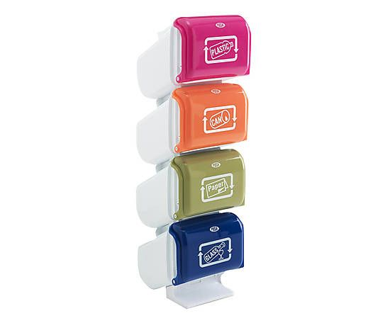 Bidoncino in plastica a 4 cassetti pillar - 29x101x31 cm