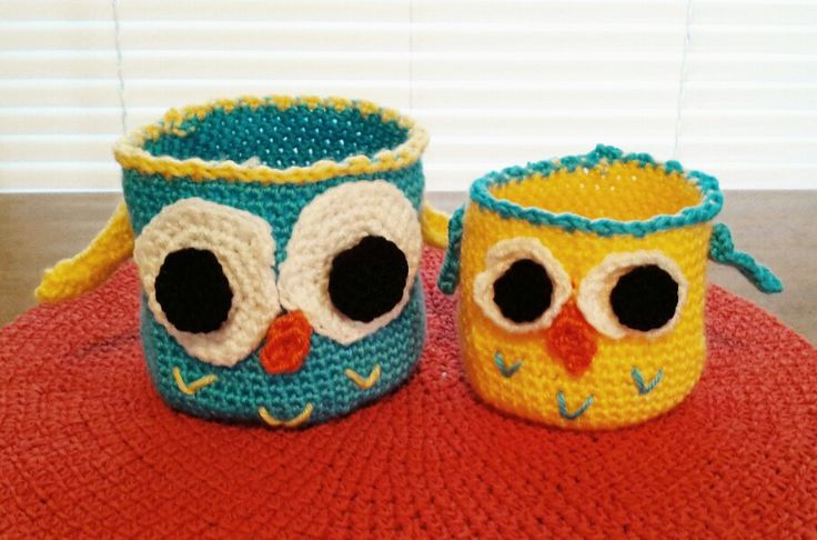 Owl baskets for Janice