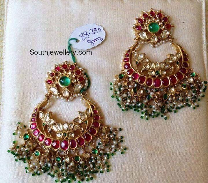Lotus Design Pearl Chand Balis
