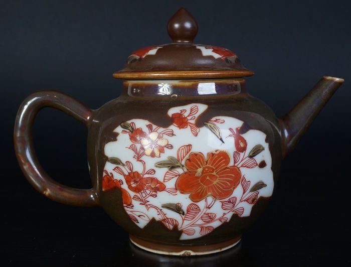 Antica teiera di porcellana cinese lcaffelatte - Cina - XVIII secolo