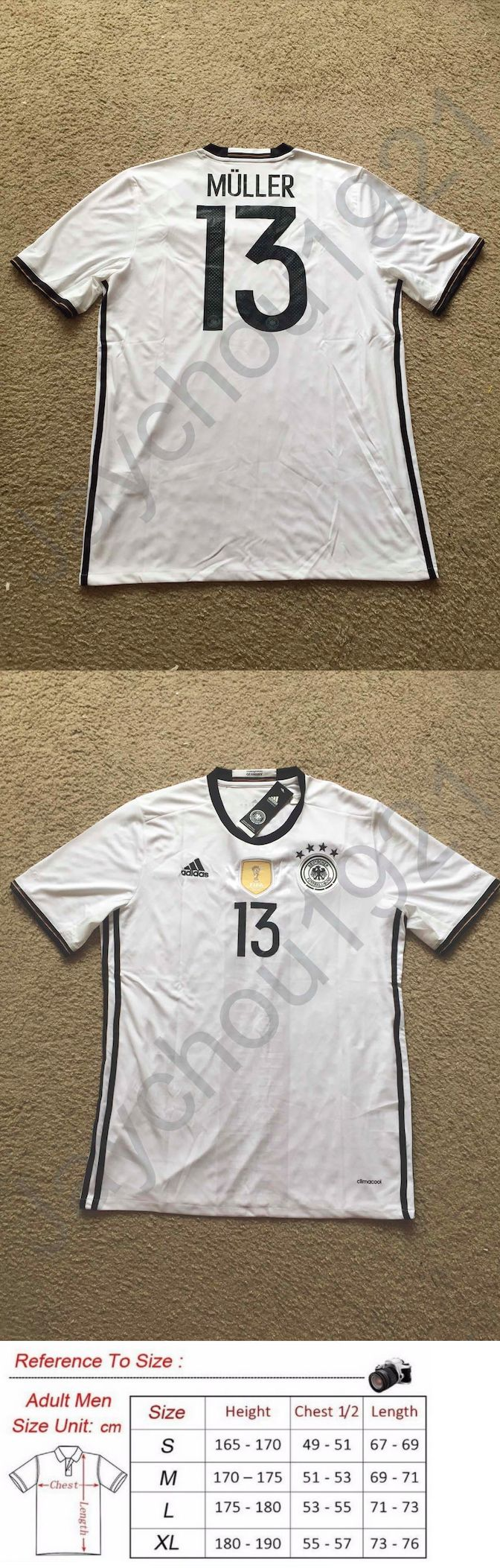 Soccer-National Teams 2891: Thomas Müller (Thomas Muller) Germany National Football Team Jersey Sz S-Xl Nwt -> BUY IT NOW ONLY: $32.49 on eBay!