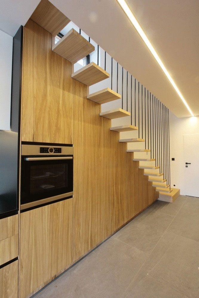 Modern internal wooden stairs