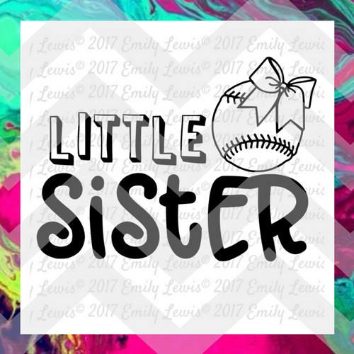 baseball sister svg baseball svg sister svg little