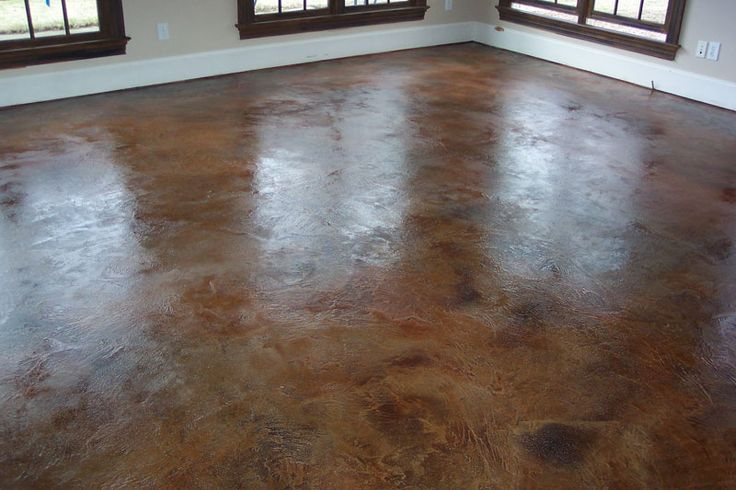 Residential Stained Concrete Floors: Color And Finish