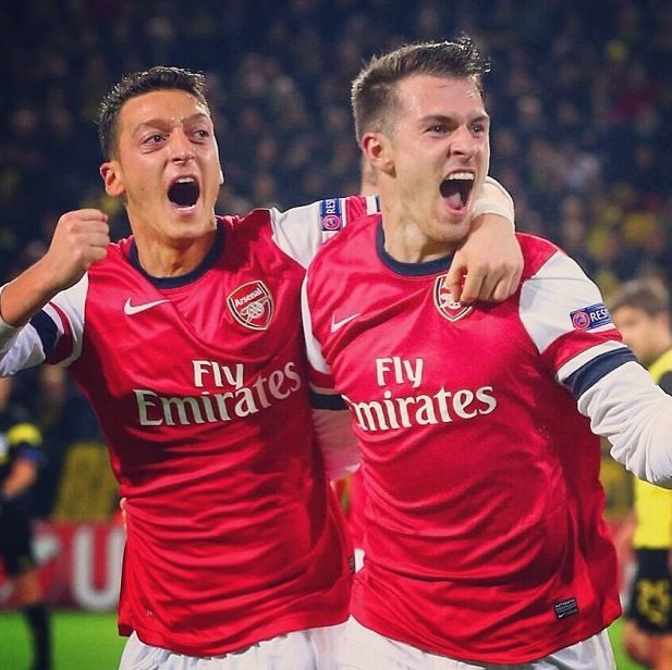 Aaron Ramsey and Özil  Arsenal