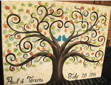 Thumb Print Guestbook - I loved the one Collins had at her wedding