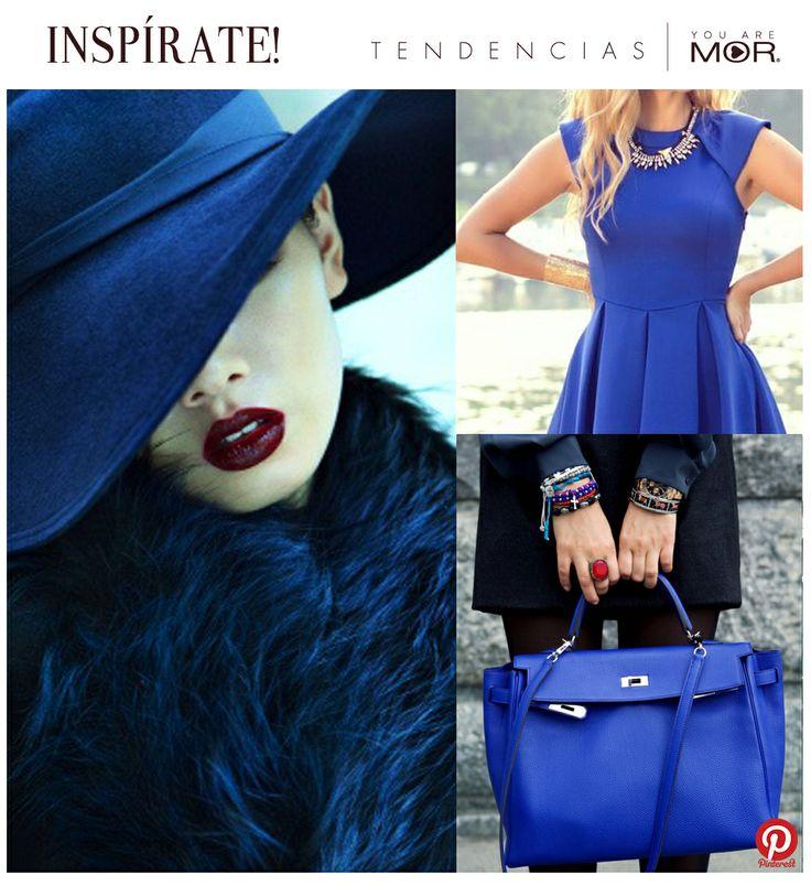 Inspírate y déjate seducir por los azules! Esta temporada el sapphire blue será sin duda uno de los que marcará tendencia. Sofisticado e intenso, dará el toque de color que necesita tu look este invierno!