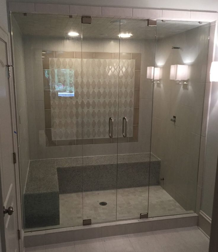 Small Bathroom With Frameless Shower: 37 Best Glass Block Showers Images On Pinterest