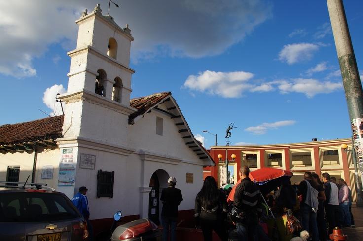 Church at Plaza Del Chorro Del Quevedo in Bogotá