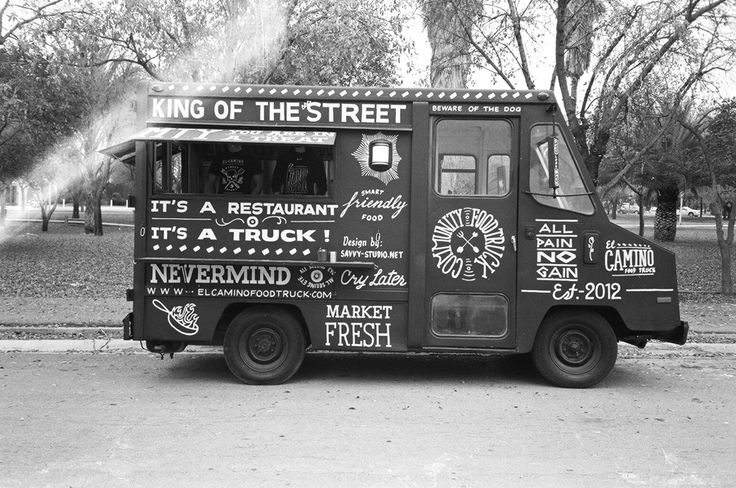 Savvy Studio. Hand painted food truck