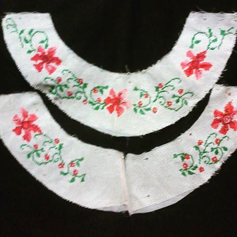 Cuello para camisa...#vestidosestilizados #vestidostipicos #materialesangie #polleras #Panamá