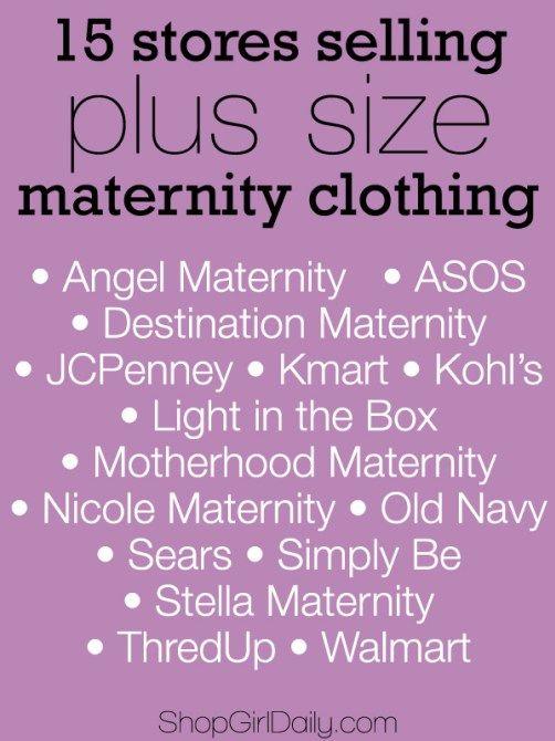 15 Stores Selling Plus Size Maternity Clothing | ShopGirlDaily.com