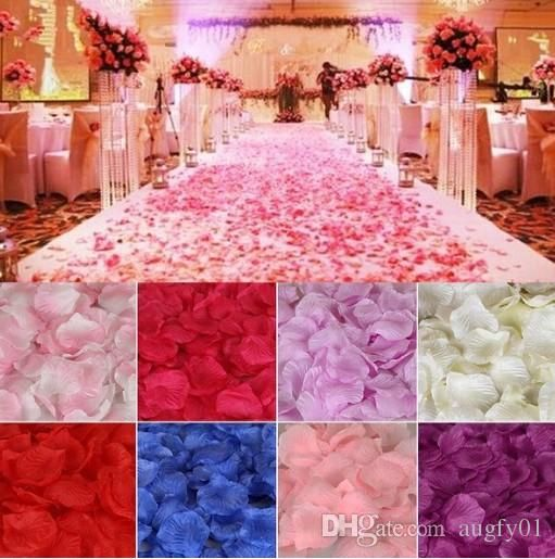 Fiancee Colorful Rose Petals Artificial Flower Wedding Party Vase Decor Bridal Shower Favor Centerpieces Confetti Wedding Flowers Online Buy Flowers Online From Augfy01, $3.12| Dhgate.Com