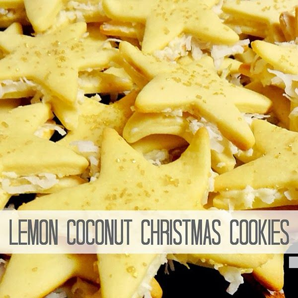 Lemon Coconut Christmas Cookies - a happy girl