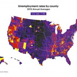 US Unemployment Rates By County   Visual.ly