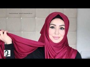 HijabApp Quick Arab Inspired Hijab Tutorial - YouTube