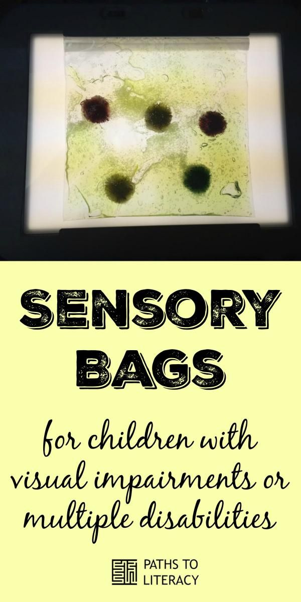 Make your own sensory bags to place on lightbox with students with CVI or multiple disabilities.