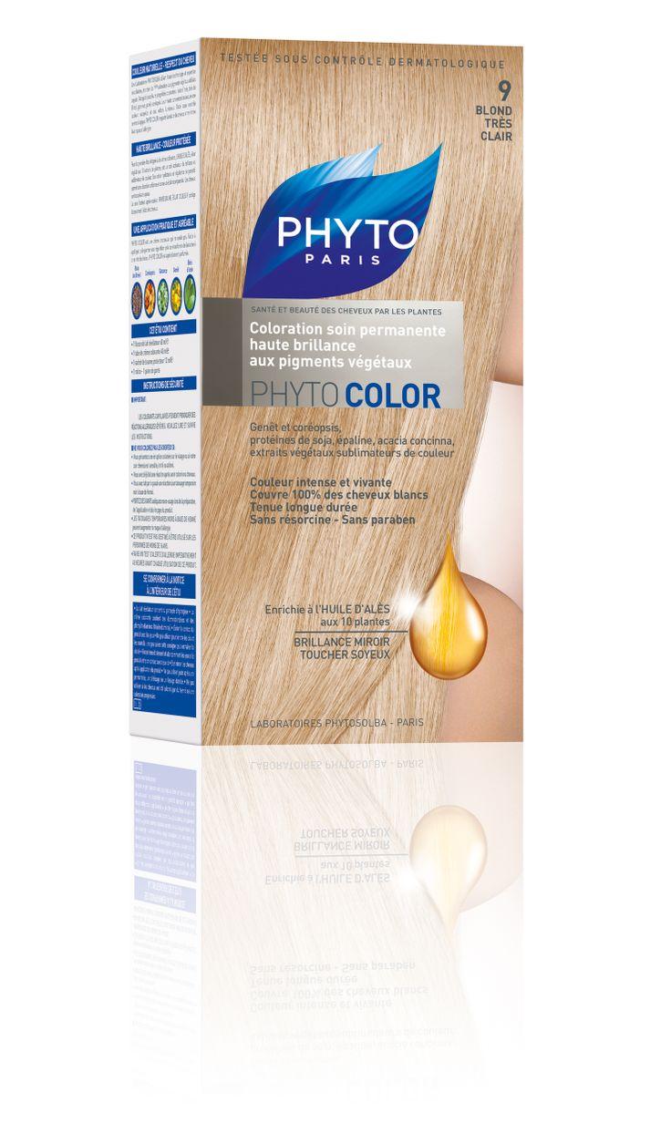 phytocolor coloration permanente tous cheveux nuance 9 blond trs clair phyto - Coloration Permanente