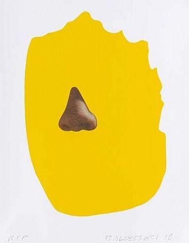 """John Baldessari: """"Nose/Silhouette - Yellow"""" (2010). Técnica: - Corriente: Fotografía conceptual."""