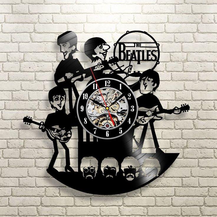 Nuovo Arrivo Vinyl Record Orologio Da Parete The Beatles Musica Nursery Art CD Orologio Orologio Creativo Duvar Saati Horloge Decorativo Per La Casa