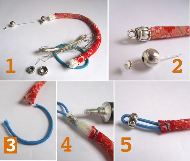 Great tutorial for using Japanese Chirimen cord for jewelry design....you can find more colors in my store....www.etsy.com/shop/stinkydogbeads