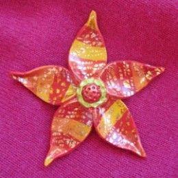 Polymer Clay Flower Tutorial - Make Bright Fantasy Flower Jewelry! By Margaret Schindel