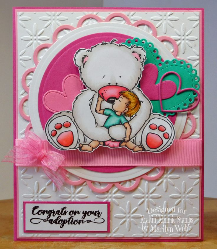 Designed by Marilyn Webb featuring the stamp Welcome To The World from http://www.kraftinkimmiestamps.com/