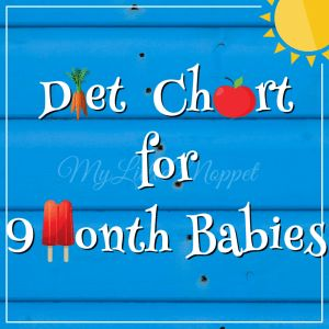 Food Chart / Meal Plan for 9 month old Baby