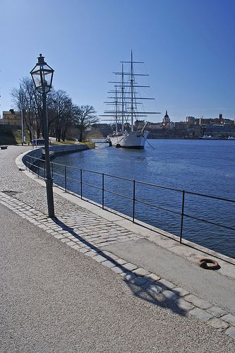 A moored ship in Stockholm