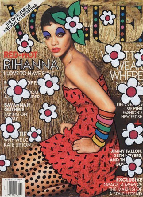 Vogue featuring Rihanna - art by Ana Strumpf♥  ♥ ✿ Ophelia Ryan✿♥