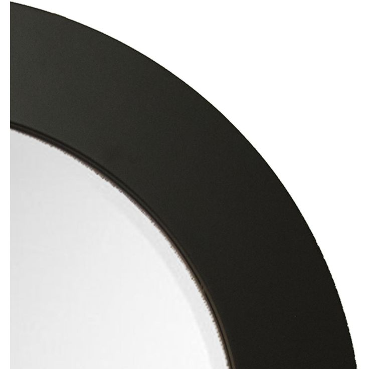 """Brandt Works Matte Black Round Mirror MBROUND1 26""""x26"""""""