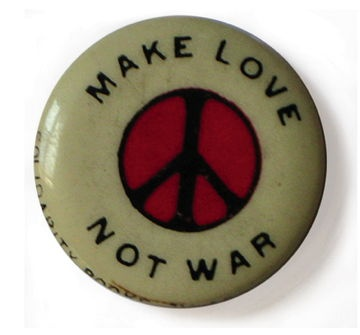A popular anti-war button in the sixties #boden
