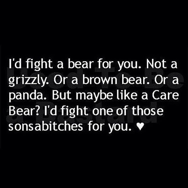 Happy Friday gorgeous people, I'd fight a Care Bear or a Gummy Bear for each and every one of you, and considering they bounce here and there and everywhere, that's love 🌈 Bring on the weekend 👍 #bowerbirdliving #quotes #instaquotes #quotesofinstagram #carebear #gummybear #bear #funny