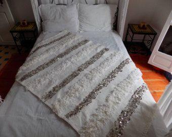Manta de marroquí de la boda 48 86'2 x 51'9 por ElRamlaHamra