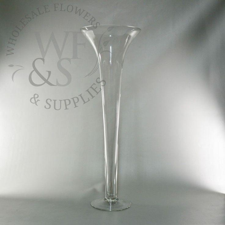 """23.5"""" Flared Glass Vase"""