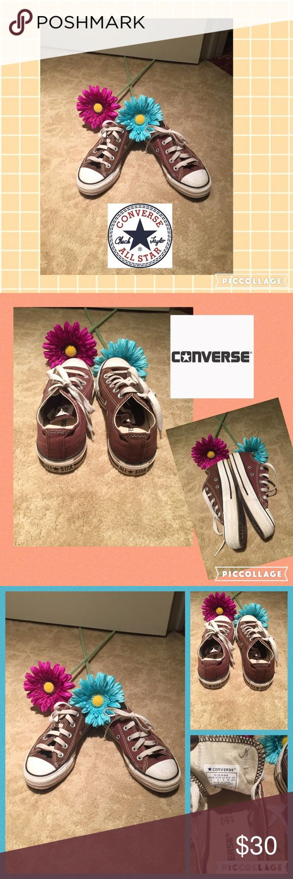 ⭐️Converse all star sneakers⭐️ Chocolate brown converse all star sneakers w laces. Gentle ware and have plenty of life left!! These are a size 5. I am a 5.5 and they fit me perfectly. Converse Shoes Sneakers