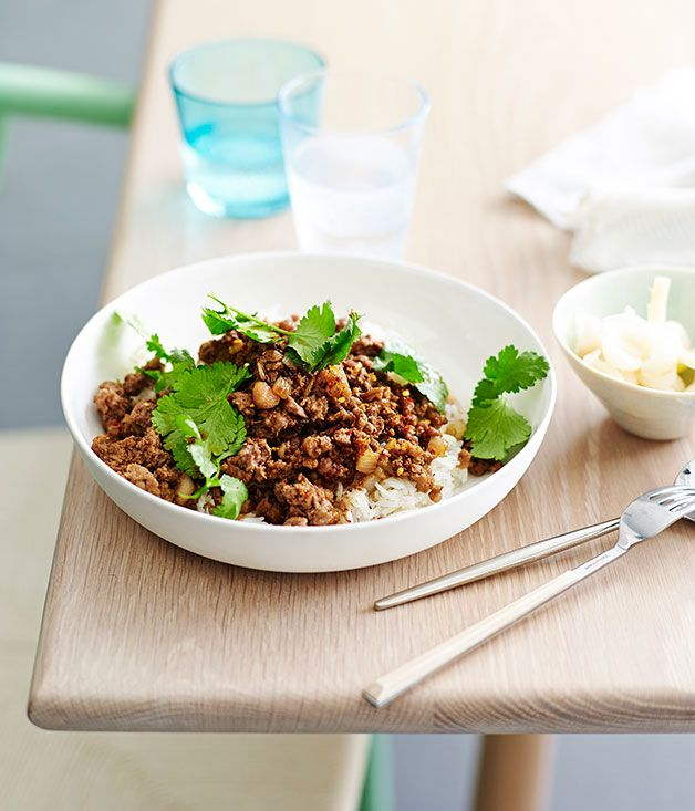 Australian Gourmet Traveller fast recipe for Shaanxi-style lamb with rice.