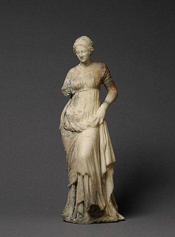 Statuette of a Woman, Greek, 100-1 B.C. (Getty Museum)