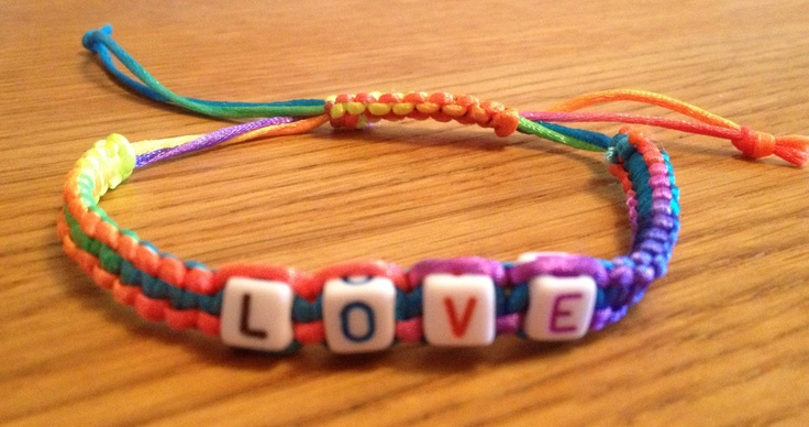 Personalized bracelet, Macrame Bracelet Multi Coloured Beaded Letters, beaded bracelet stackable, personalise with your own words. £4.00, via Etsy.