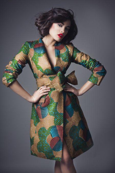 Ankara jacket as a wrap dress