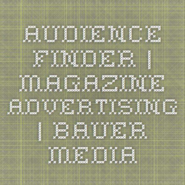 Audience-finder | Magazine Advertising | Bauer Media