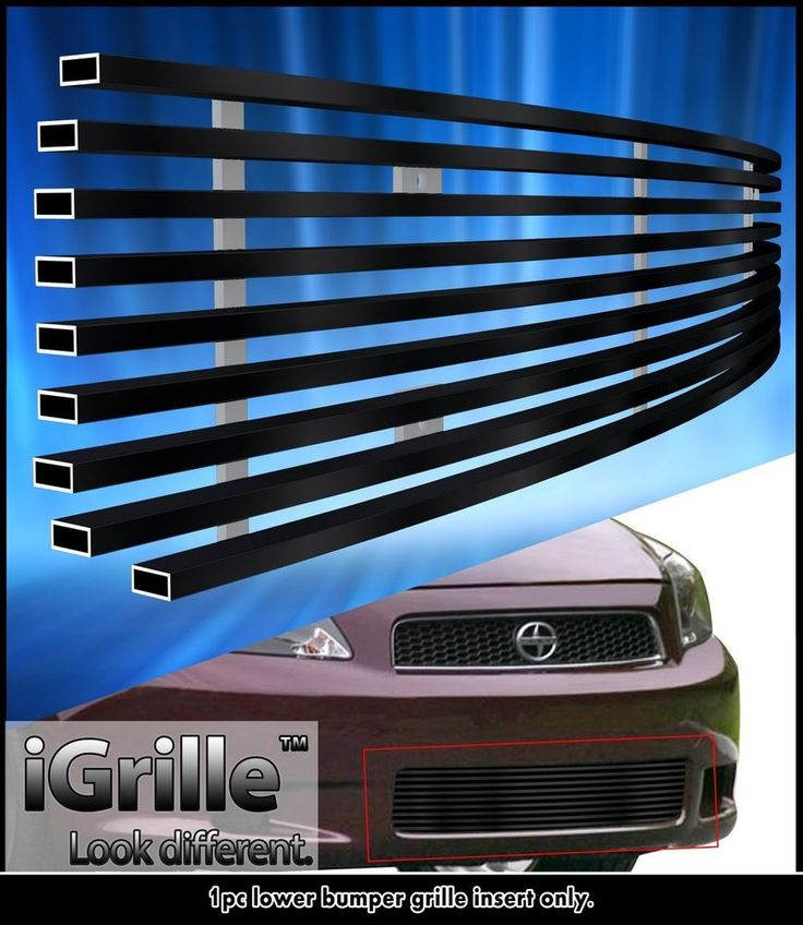 Fits 2005-2010 Scion TC Black Bumper Stainless Steel Billet Grille Grill Insert #APS #HorizontalBilletGrillInsert