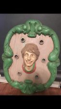 Antique Carousel Shield Cast Iron And Wood Lighted Shield