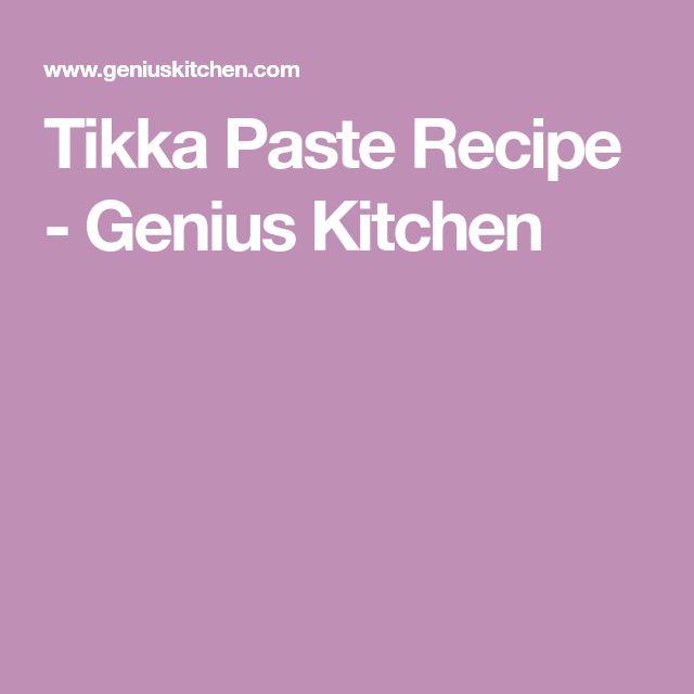 Tikka Paste Recipe - Genius Kitchen