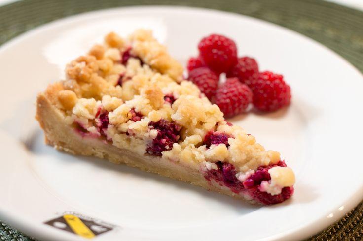 Raspberry Crumble Tart #vegan | Desserts | Pinterest