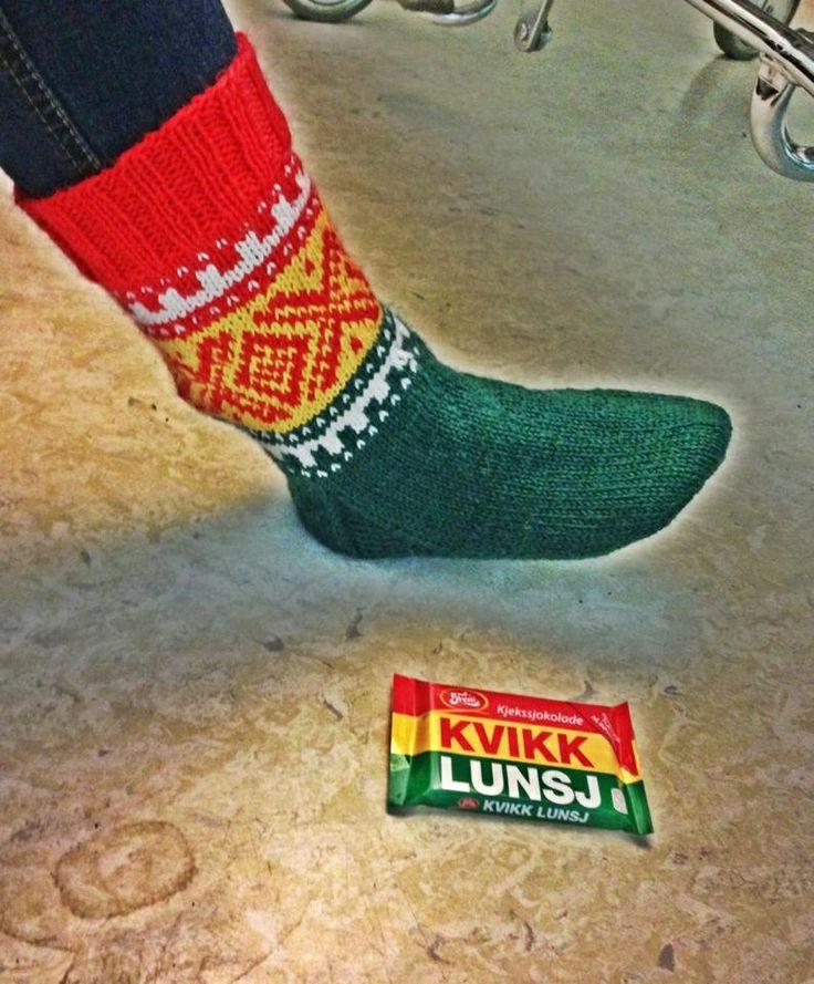 Kvikk lunsj sokker