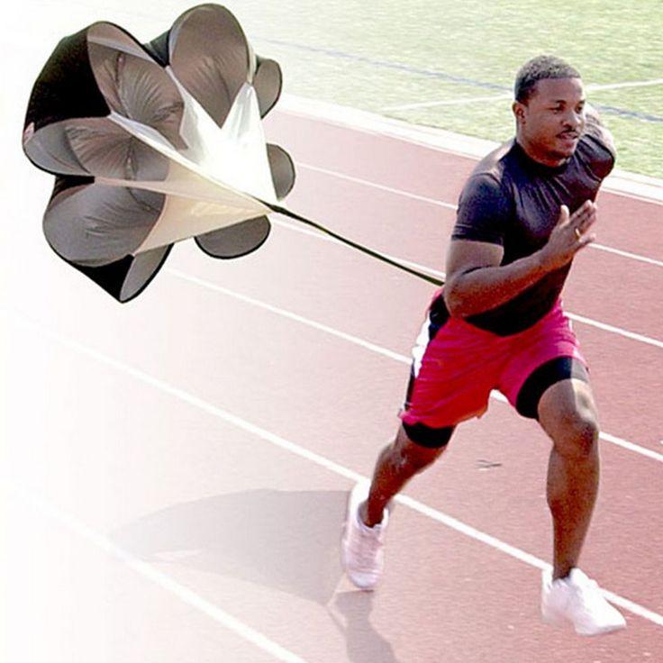 """56 """"Speed Resistance Lauf Trainings-fallschirm-laufende rutsche Fußball Übung + Tasche Erhöhen Geschwindigkeit Fußball Ausrüstung"""