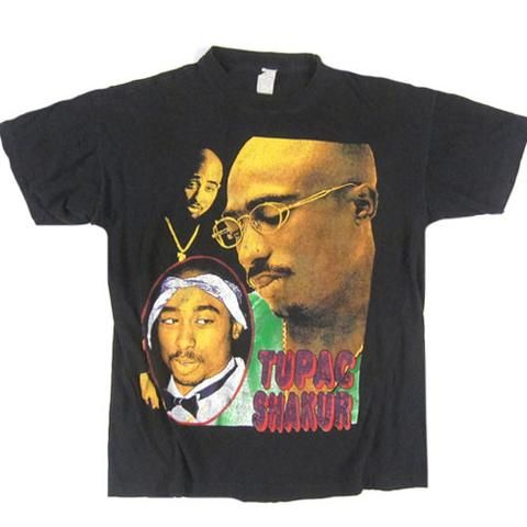 "Tupac Shakur/2Pac (1996?) - ""Dear Mama"" Vintage Rap Tee"